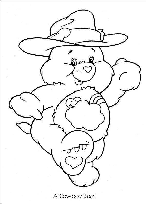 care bears coloring pages to print | Care Bears cowboy coloring ...