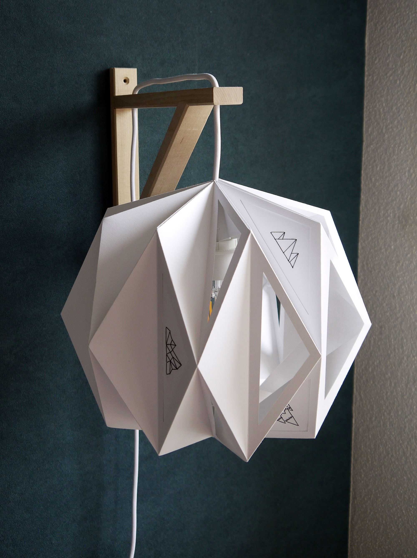 Lampe Blanche Lampe De Bureau Lampe De Chevet Lampe En Pin Origami Lamp Diy Lamp Shade Lamp