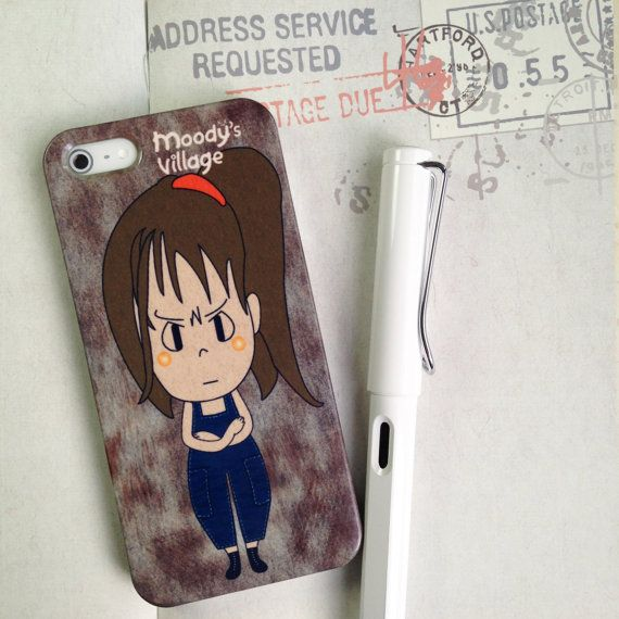 Nari Chibi Handmade Phone Case With Moody Indy Cute Character Design By Moody S Village Case For Iphone 4 4s 5 5s 5c Galaxy S3 S5 Note 2 On Etsy 646 26