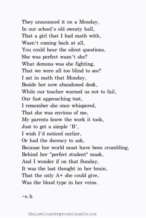 Deep and meaningful. My favourite type of poem. | Poetry quotes, Words, Poems