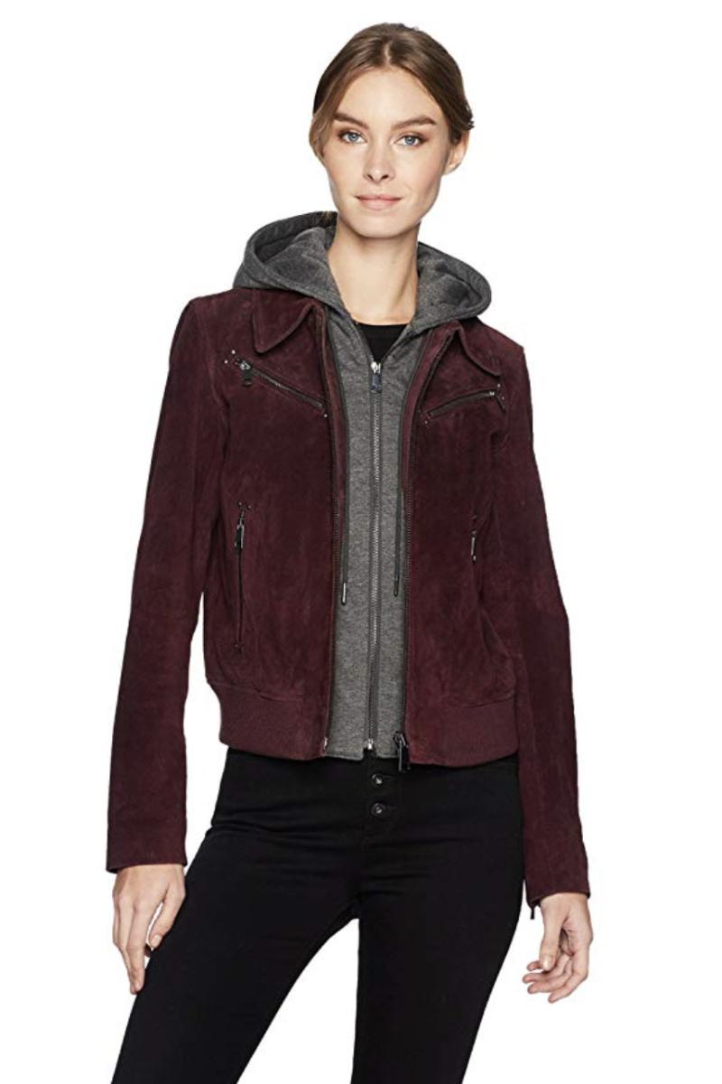 Suede Aviator Jacket with Hood Aviator jackets, Jackets
