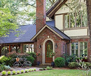 A Colorful Home Packed With Craigslist Makeovers Tudor Style Homes House Styles Tudor House