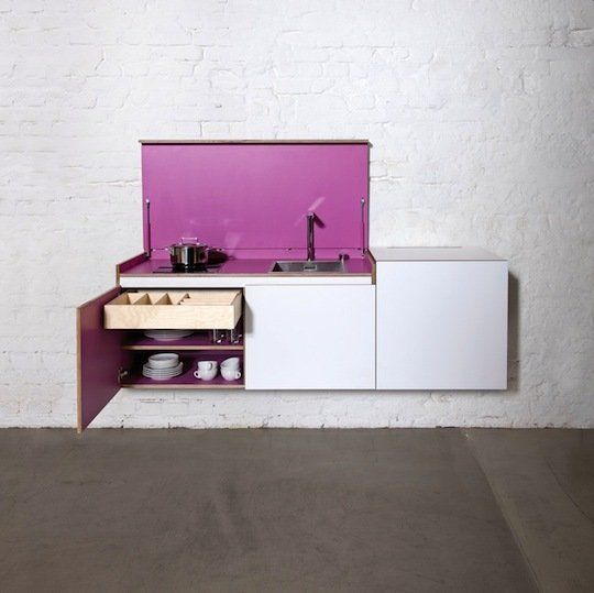 Miniki: Modular Modern Hidden Kitchens