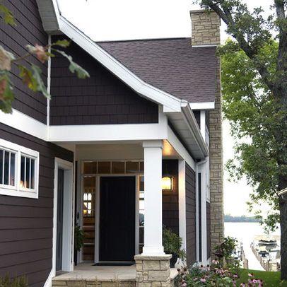 dark gray with white trim   House Exterior   Pinterest   Exterior ...