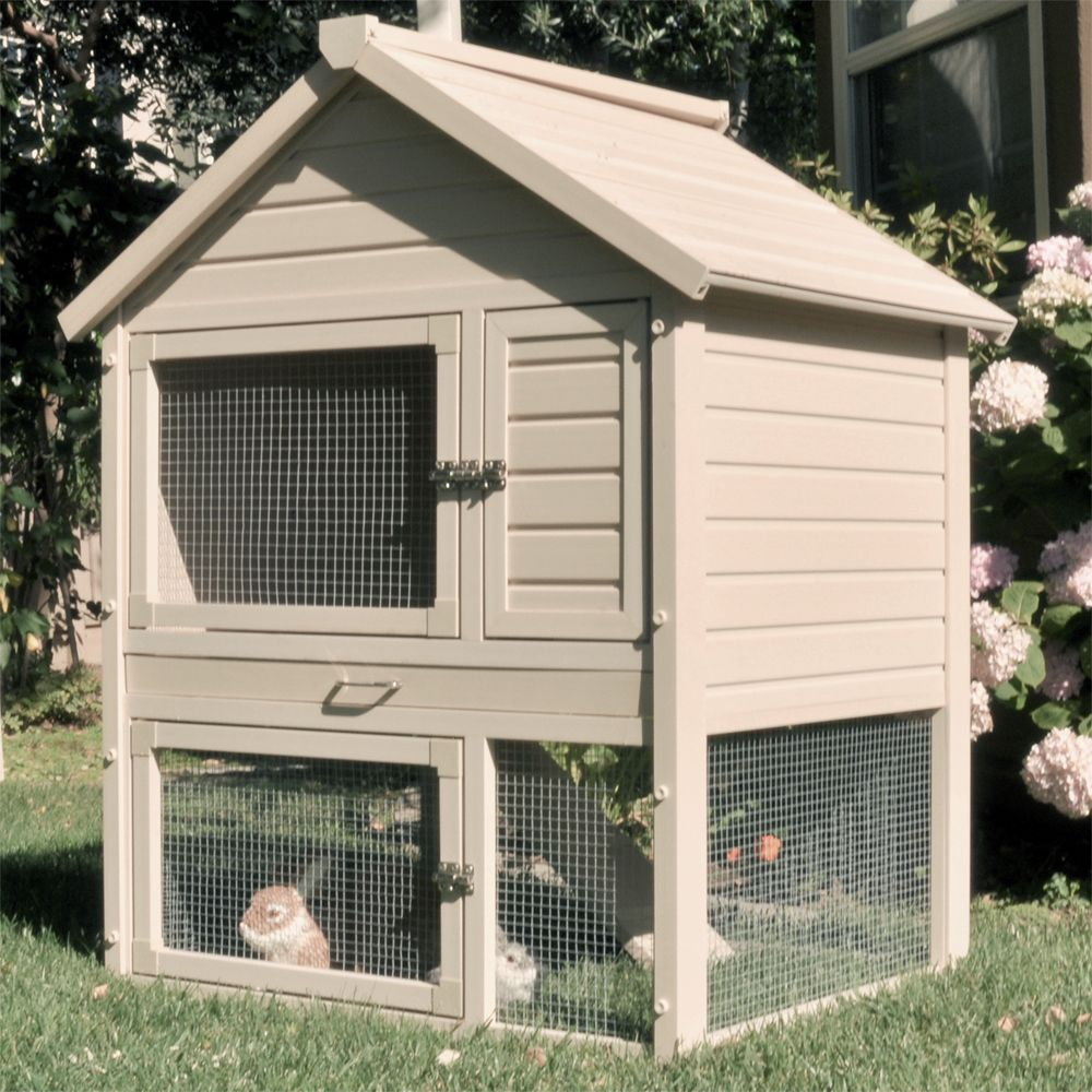 Outdoor Rabbit Hutch in Pet Pens | Bunny | Pinterest | Outdoor ...