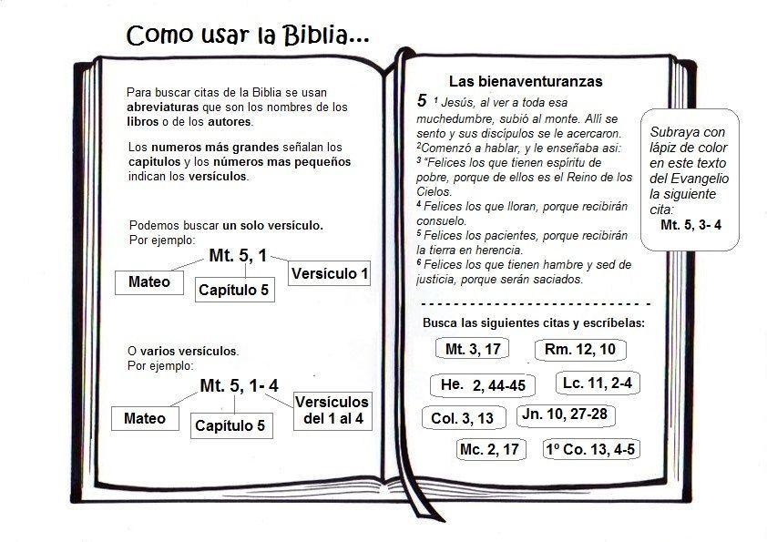 Cómo usar la Biblia … | Proyectos Escuela Biblica | Pinte…