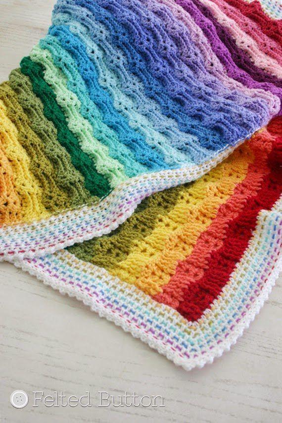 los patrones de ganchillo del arco iris | mantitas bebe by rosa ...