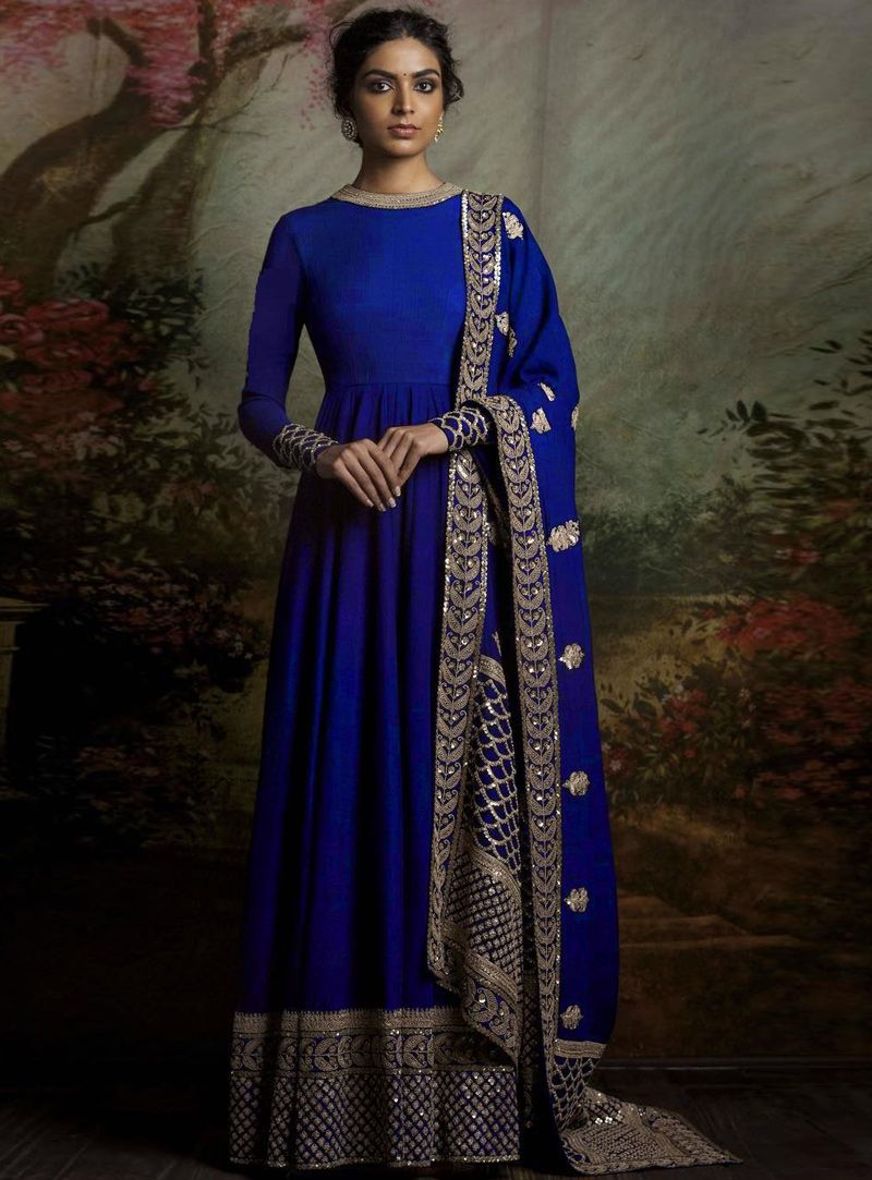 77ca6d102f Buy Royal Blue Banglori Silk Long Anarkali Suit 93631 online at lowest  price from vast collection at m.indianclothstore.c.