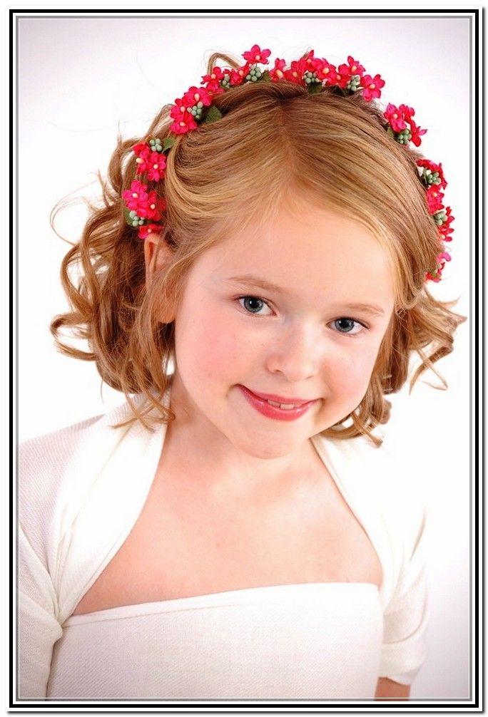 Little Girl Updos For First Communion Flower Girl