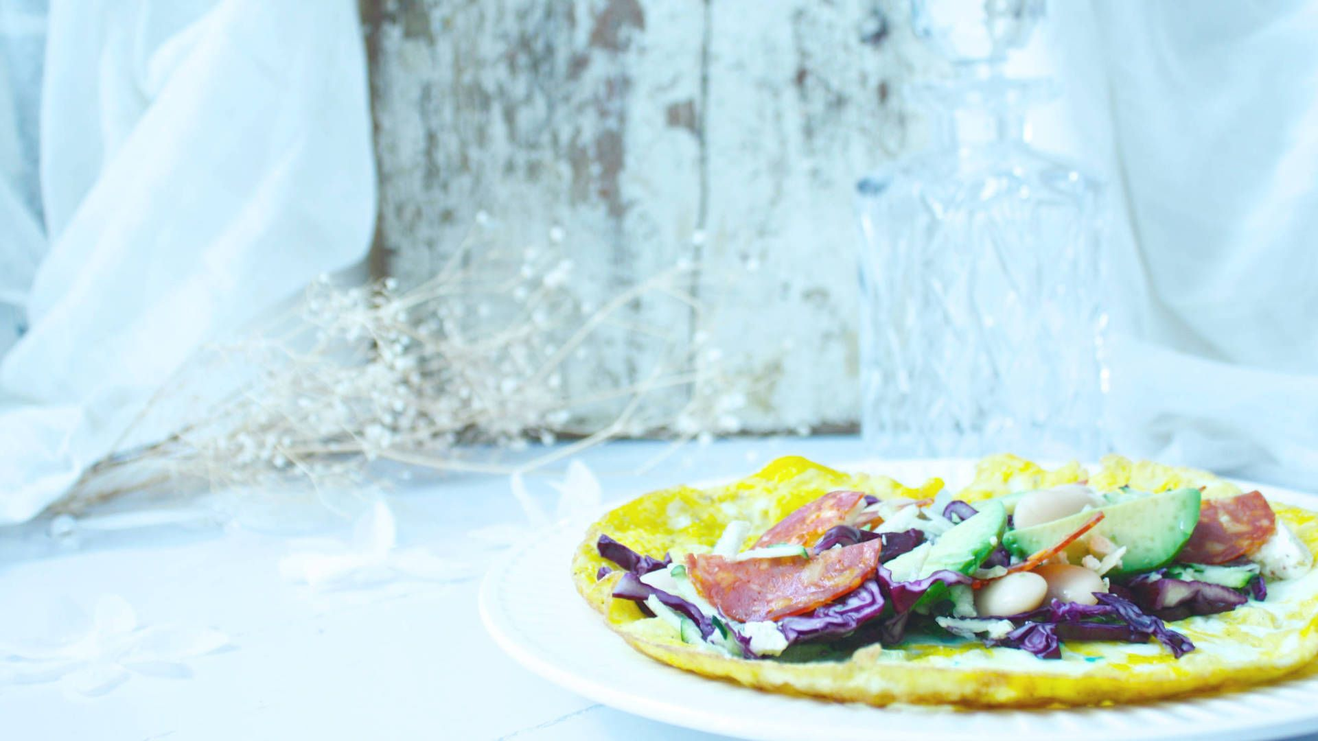 Lunch with tortilla made of egg <3 #food #recipe #healthy #cooking #lunch #dinner