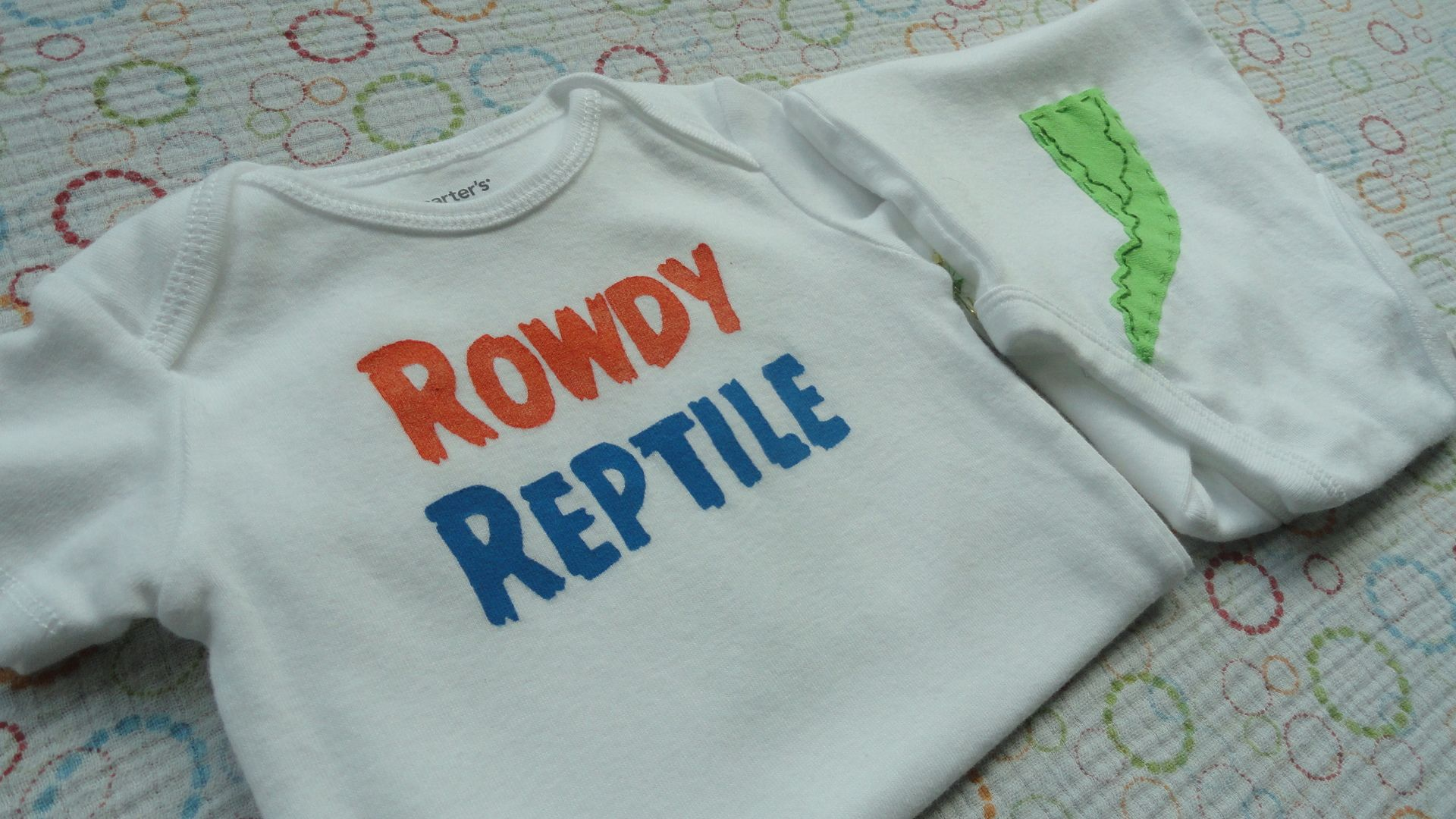 2a5d14bb Rowdy Reptile Gators onesies with an alligator tail on the back.Go ...