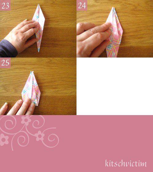 Origami Kraniche Tutorial - Teil 5