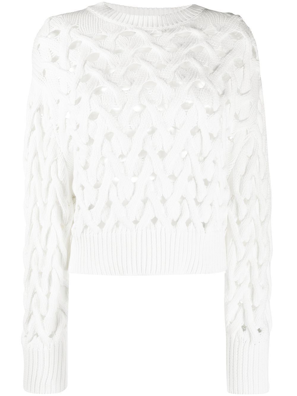 Brunello Cucinelli open chunky knit jumper - White