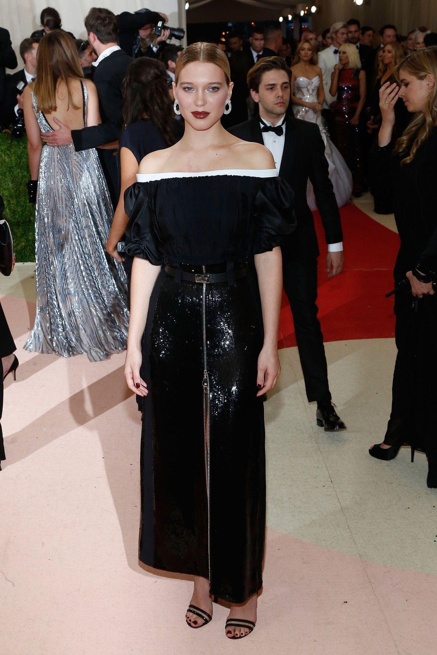 Léa Seydoux in Louis Vuitton at 2016 Met Gala in New York