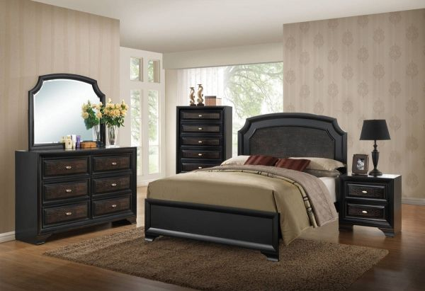 Beautiful Farrah Olivia Black Master Bedroom Set