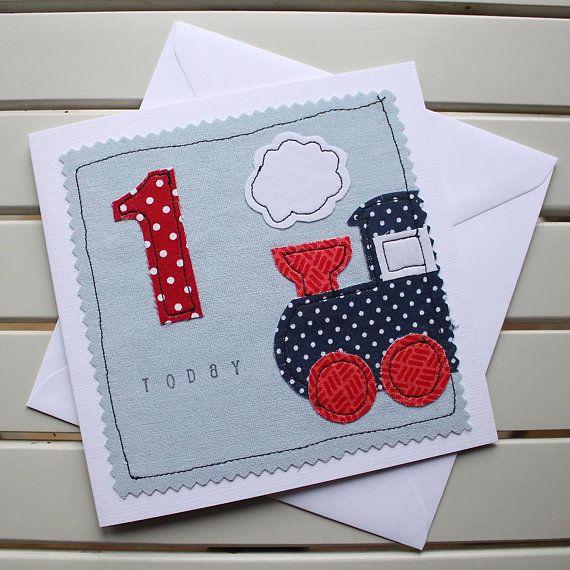 1st 2nd 3rd 4th Birthday Card Handmade Original Textile Card