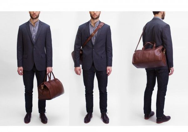 d0f3c0f34e Lotuff - Small Leather Duffle Vegetable Tanned Leather