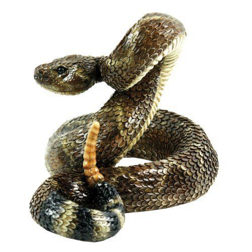 Outdoor Garden Statues Rattlesnake Large Snake Figure Sculpture Home Yard Decor Mosaic Animals Animal Statues Outdoor Statues