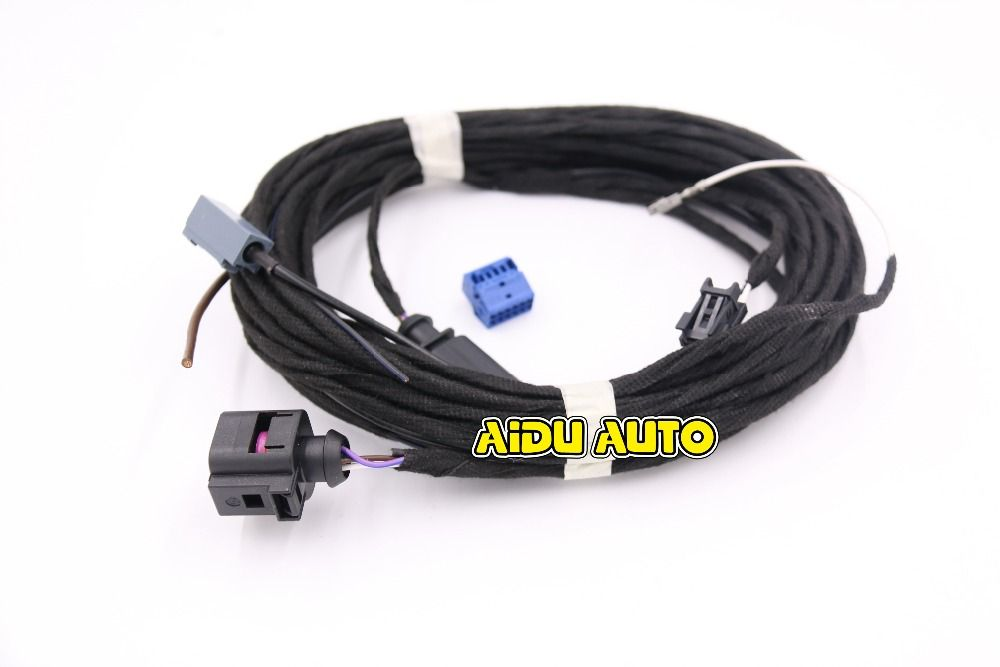 Oem Rear View Camera Reversing Logo Camera Cable Wire Harness For Vw Golf 7 Mk7 Vii