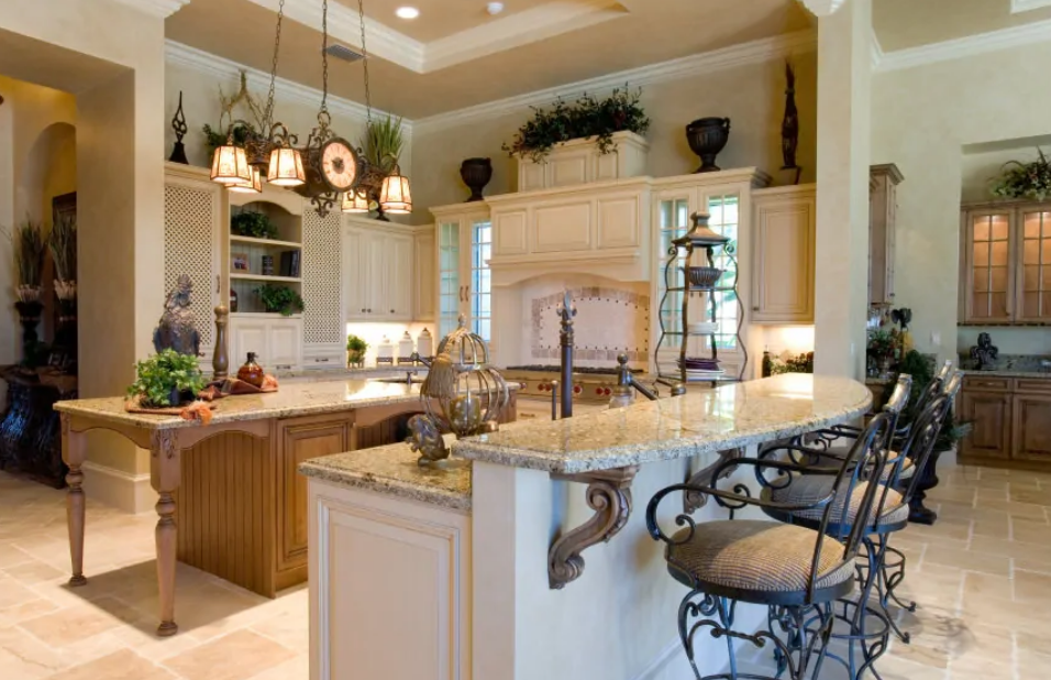 30 Comfortable Two-Tier Kitchen Islands Design Ideas ...