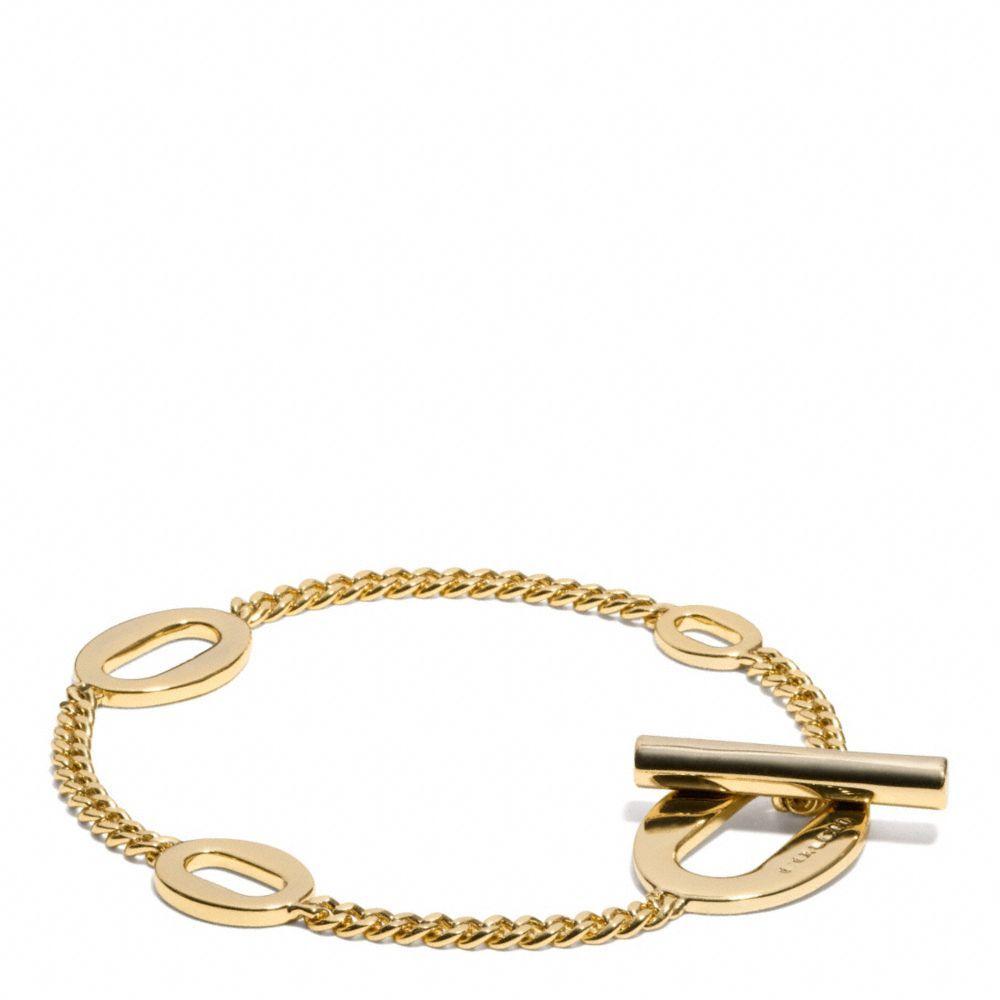 The oval link bracelet from coach bracelets pinterest