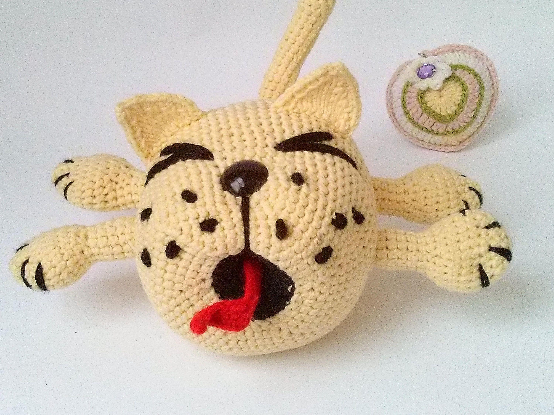 Amigurumi Cat Doll : Cat toy crochet cat doll screaming cat handmade cat hand knit