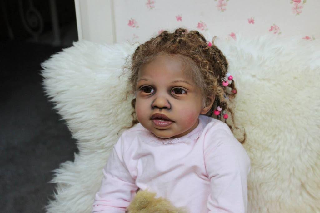 Custom order for reborn big doll toddler aa black timone