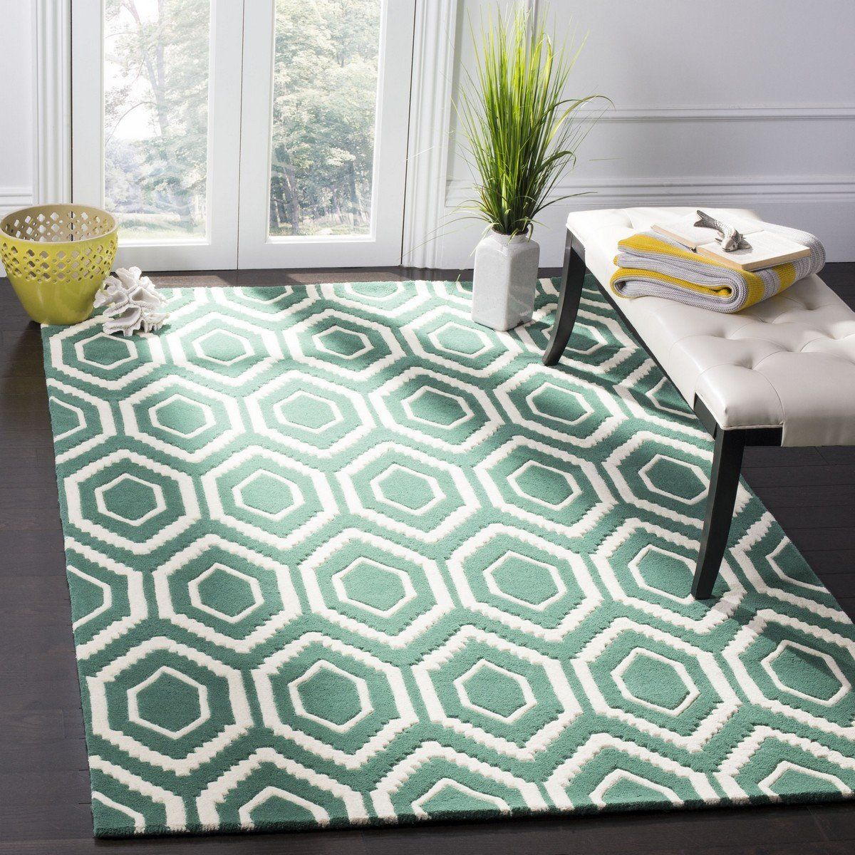 Photo of Safavieh Chatham CHT731T Teal / Ivory Rug