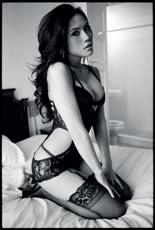 Lingerie Stockings Heels Blackandwhite Photography