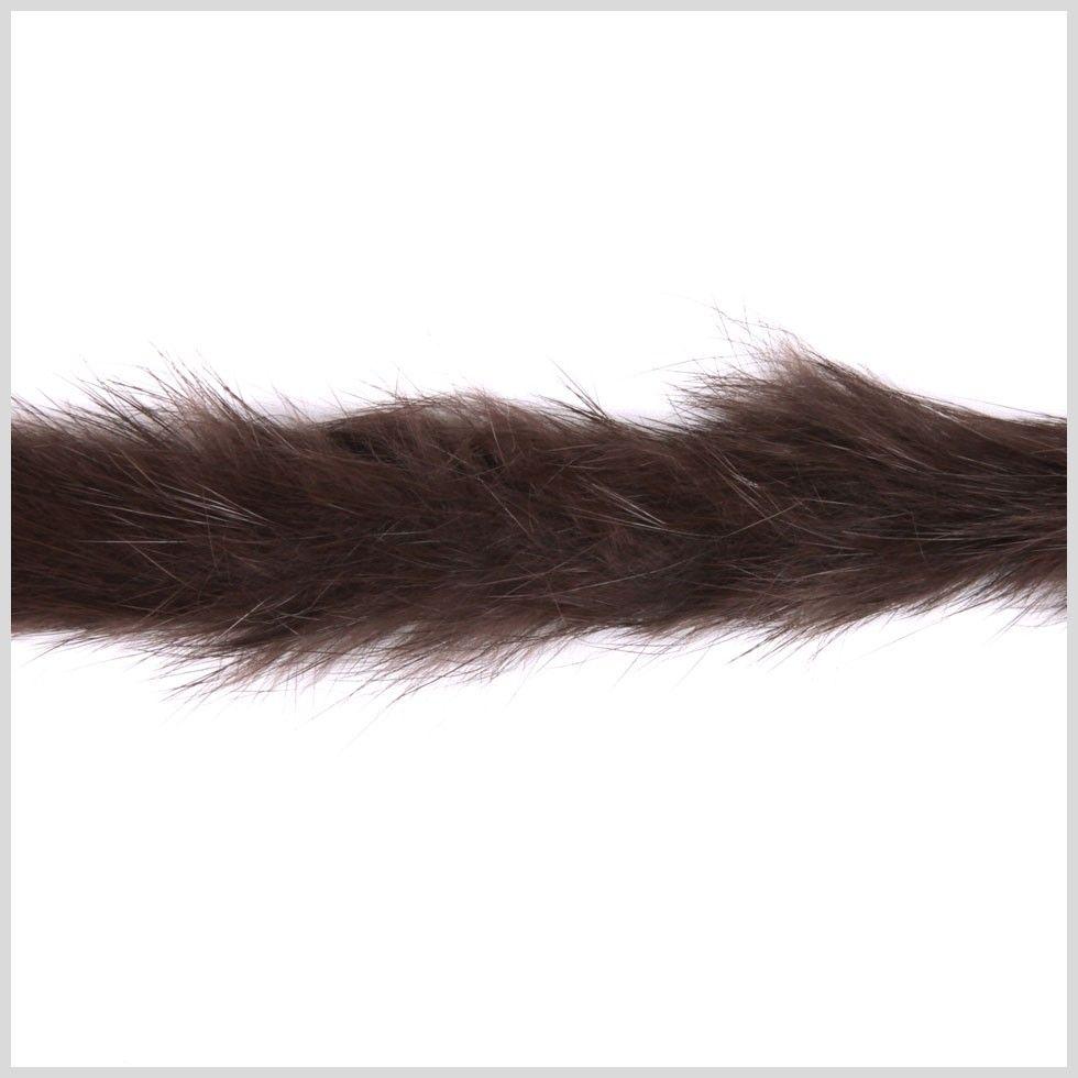 """1"""" Brown Rabbit Fur Trim - Fur - Trims & Chains - Trims"""