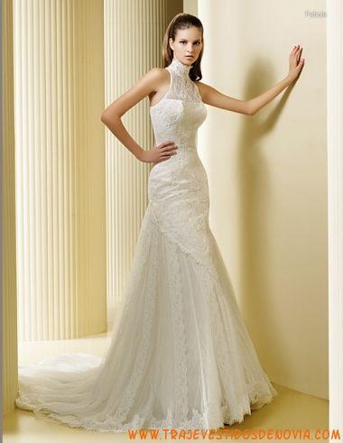 fabula encaje vestido de novia la sposa | vestidos de novias famosas
