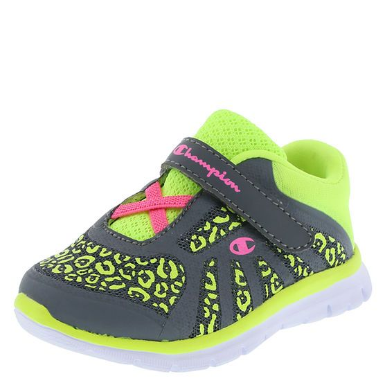 Your little sweetie will be on top of her game with this athletic shoe. It offers a mesh upper with sporty accents, stretchy laces, strap with hook and loop closure, padded collar, soft lining, padded insole, and a non-marking, lightweight, flexible outsole. Manmade materials.