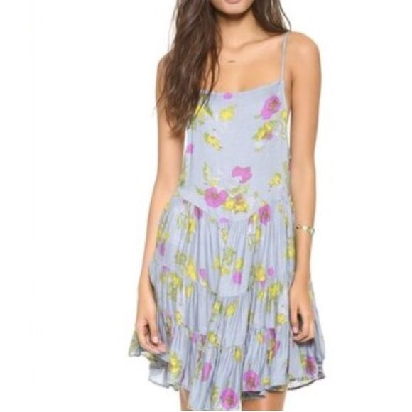 Free People Circle Of Flowers Dress Super cute dress. Tags have been taken off but it has never been worn. Just wasting space in my closet. It is a size XS, but since Free People runs big, it fits like a small. Free People Dresses Mini