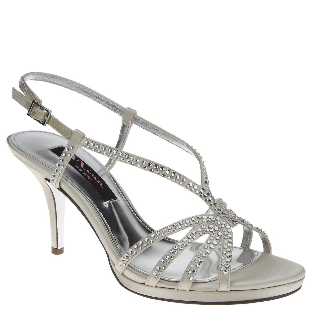 4fb685f05c Nina BOBBIE CHAMPAGNE JOLIE SATIN by Nina Shoes