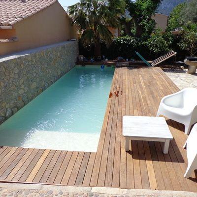 Piscinas jm rustic rancho pinterest piscinas for Piletas modernas