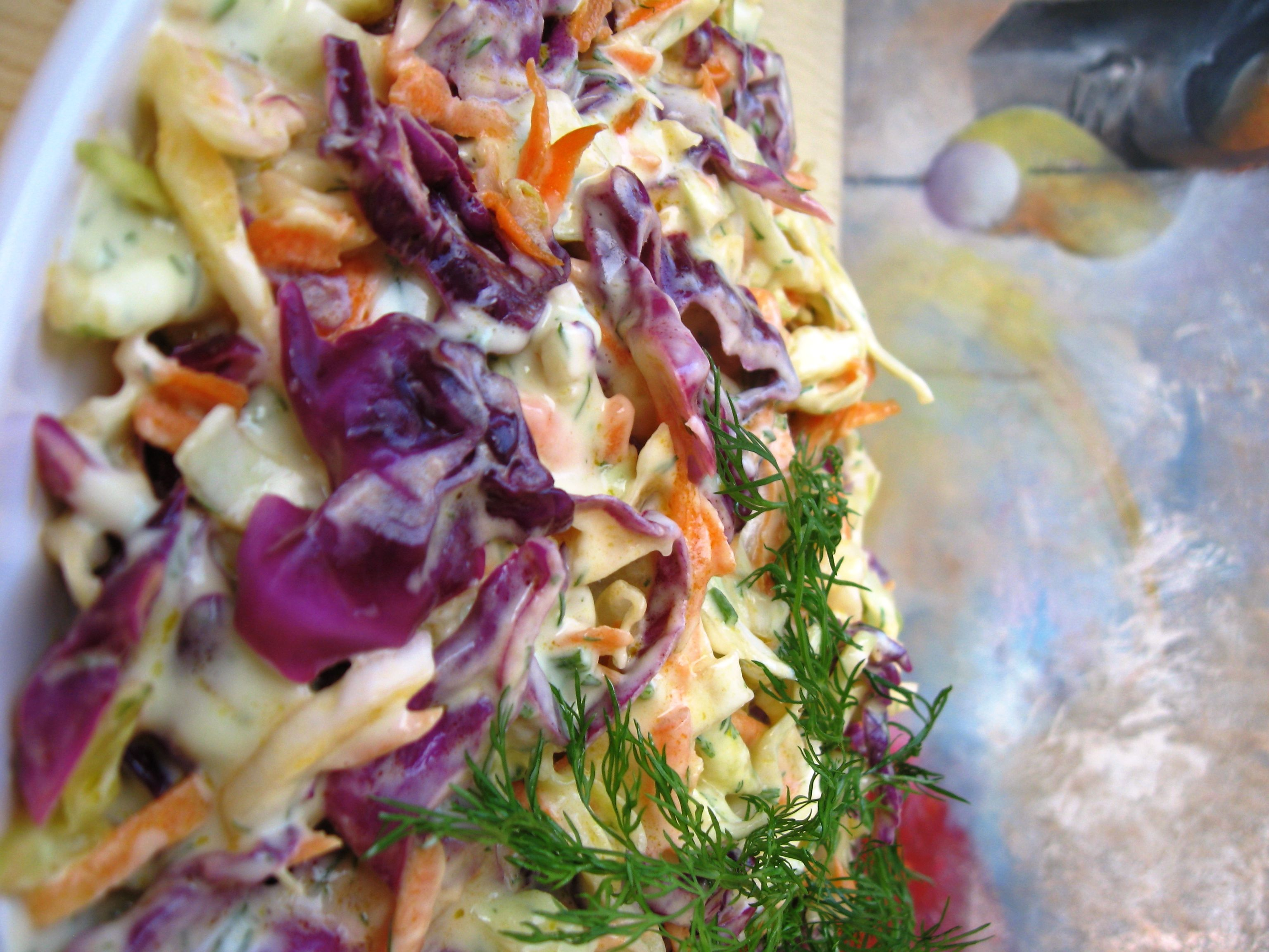 Delicious cabbage salad with incredible delicious celery dressing. #greatfood #healthyfood