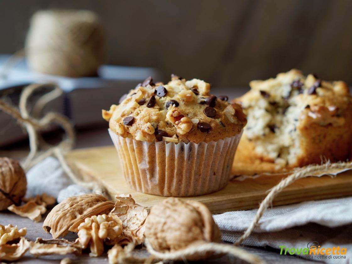 Muffin al Cioccolato e Noci  #ricette #food #recipes