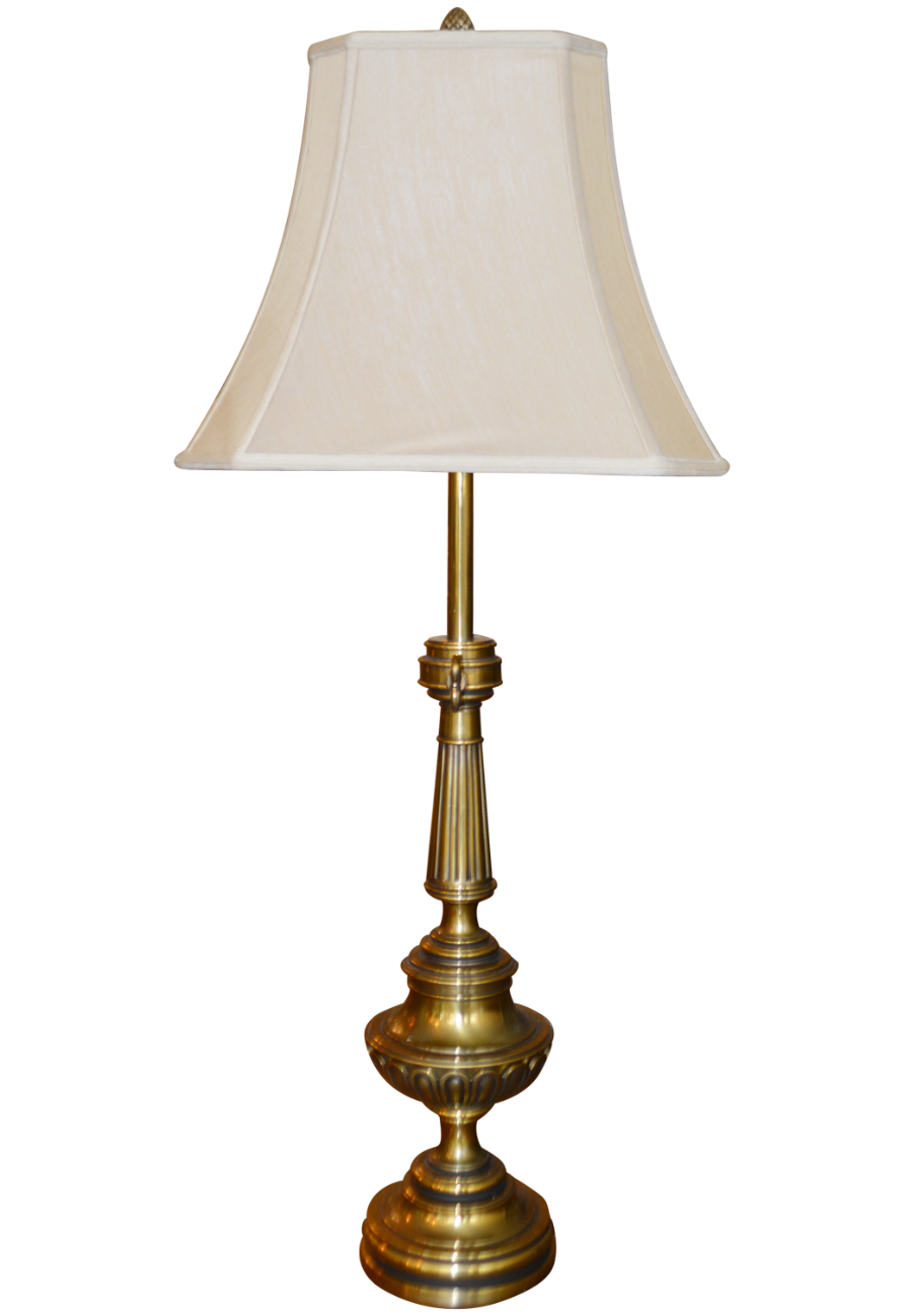 Classic Brass Table Lamp Made In A Trophy Urn Form The Lamps Have A Glass Shade Which Can Be Used On Its Own Or With The Sha Table Lamp Lamp French