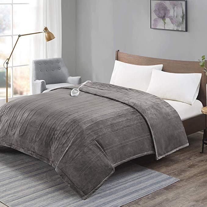 Amazon Com Advanced Micro Plush Electric Blanket Full Size Large Therapedic Heated Blankets With Auto Shut Off 20 Level Settings Pre Heat Ul Certified E