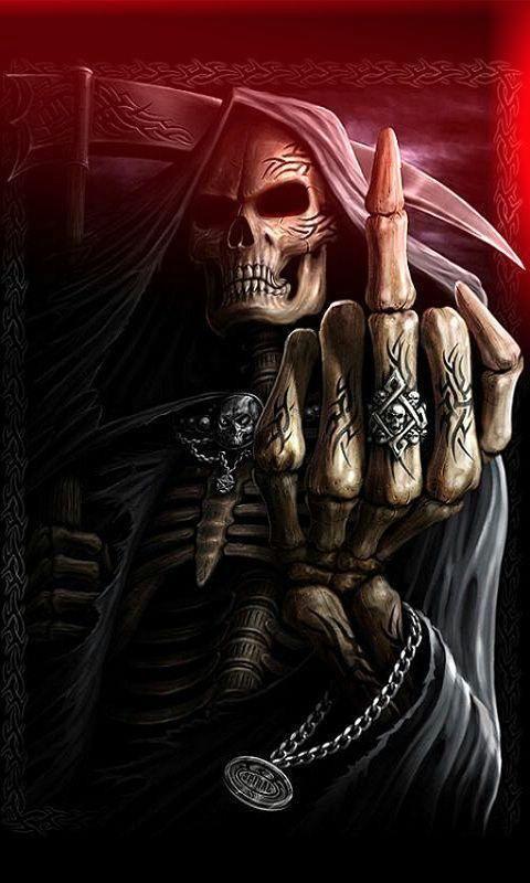 SPIRAL DIRECT BONE FINGER T-Shirt,Top//Tee// Biker//Grim Reaper//Skull//Goth//Bone