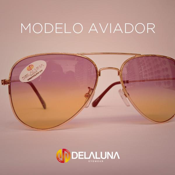 17225d6681f4f Dentre os vários modelos de óculos escuros que temos aqui na Delaluna, um  deles é