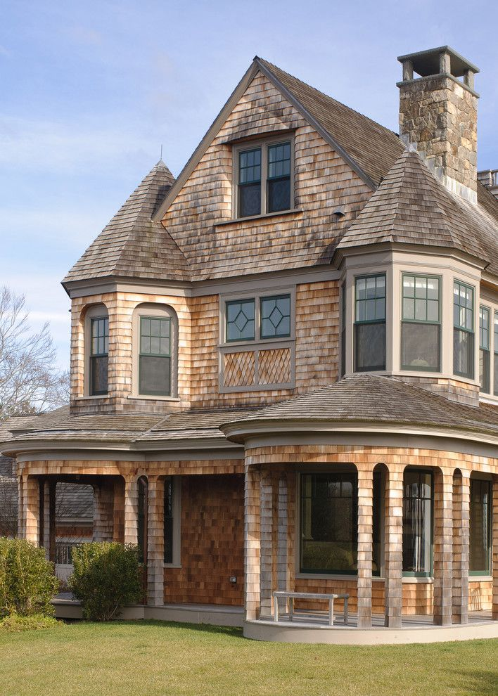 Small Victorian House Plans Granite Walls Gable Roofs Chimney Porch Column Windows Victorian Design Of Elegant Shingle Style Homes Shingle House Shingle Style