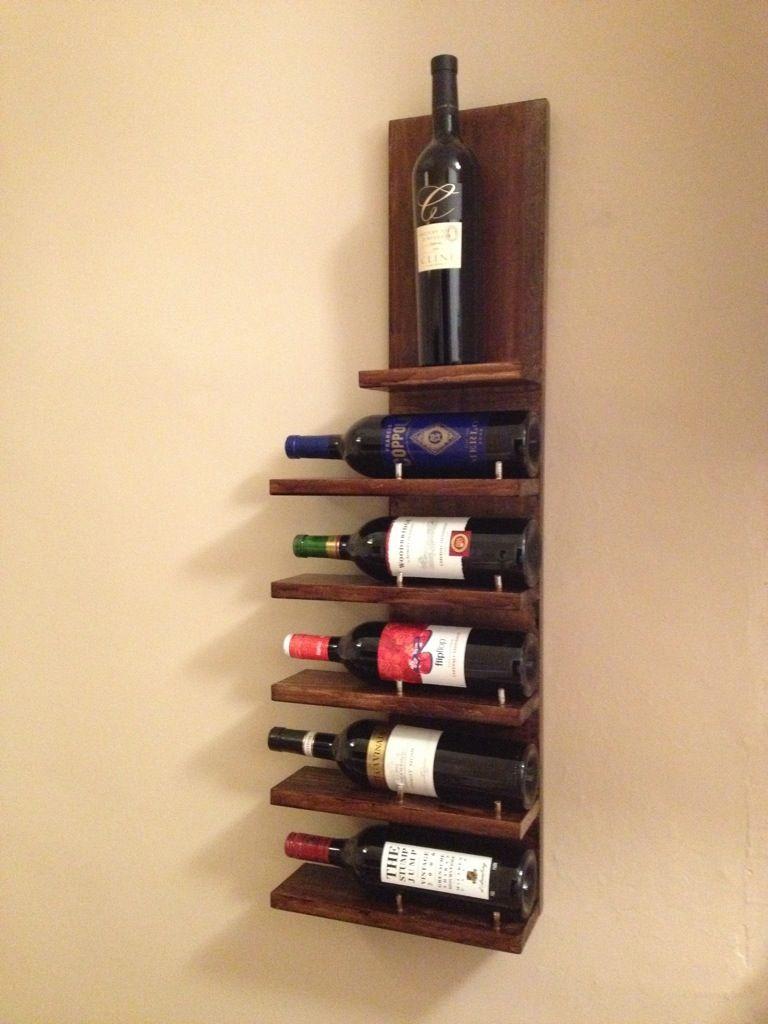Diy wall wine rack diy ideas pinterest diy wine racks wine diy wall wine rack solutioingenieria Image collections
