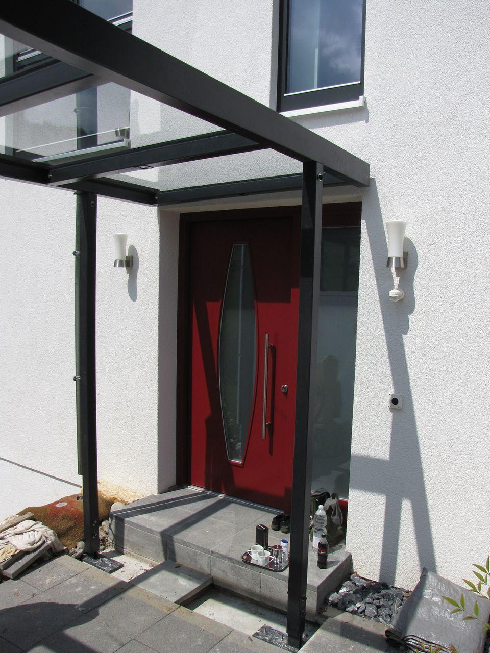 Eingangsüberdachung eingangsüberdachung metall vordach glas stahl überdachungen