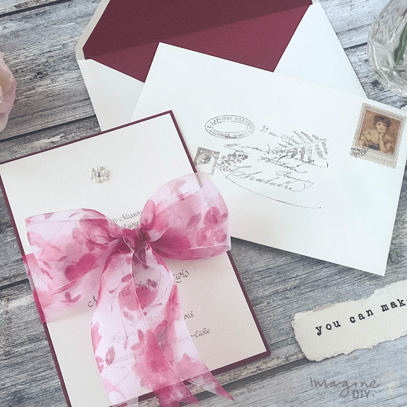 How To Make...Easy Bellefleur Bow Wedding Stationery | Summer ...