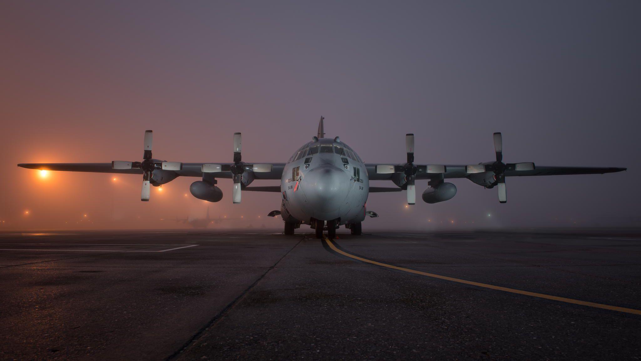 Hercules At Night Hercules C130 Hercules Before Sunrise