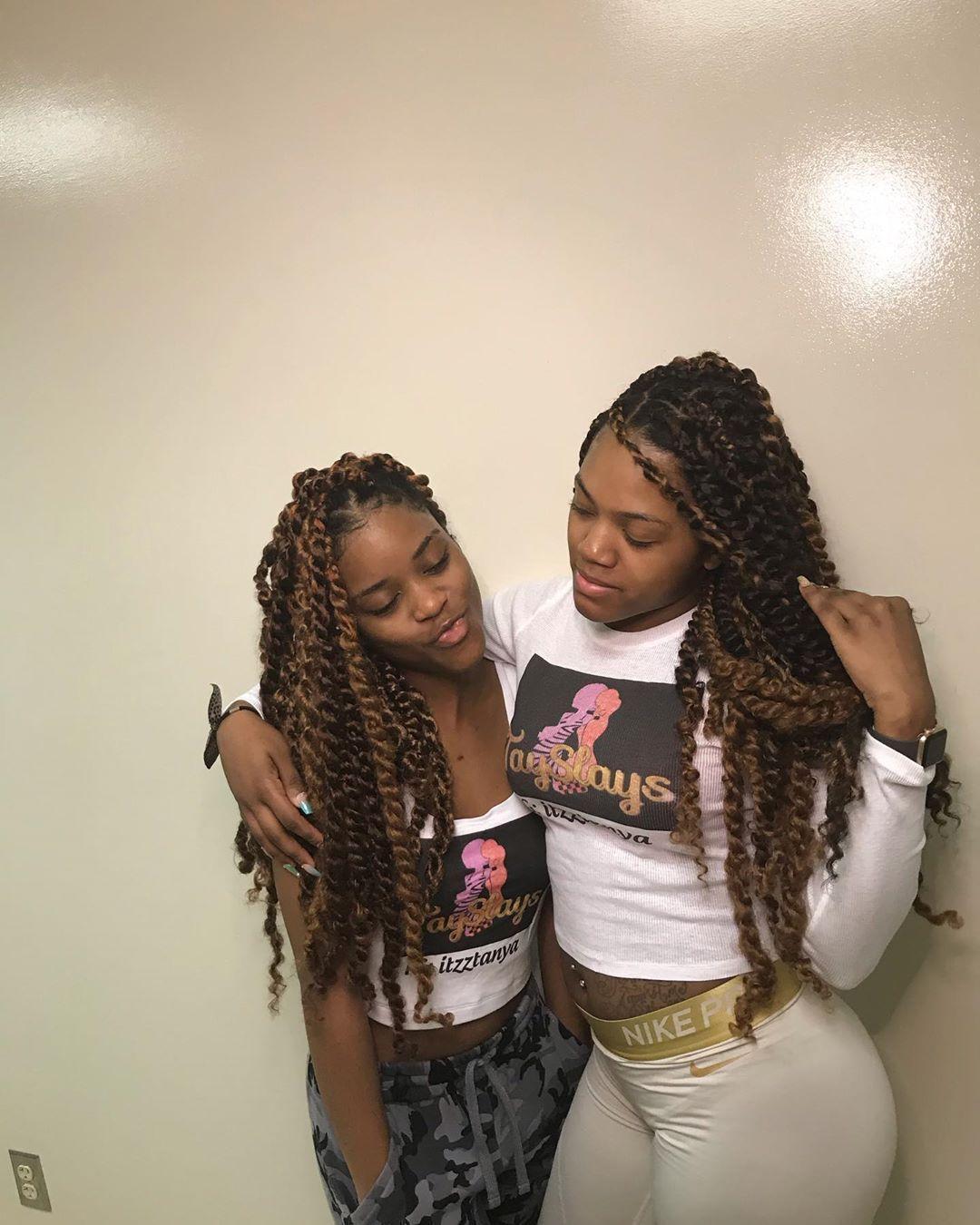 Beautiful ladies bodying my passion twists while rocking #TaySlays tops!  #passiontwist #boxbraids #protectivestyles #fauxlocs #braids #knotlessbraids #goddesslocs #queensstylist #marleytwist #feedinbraids #lemonadebraids #passiontwists #explorepage #braidstyles #hairstyles #crochetbraids #goddessbraids #naturalhairstyles #knotlessboxbraids #springtwist #tribalbraids #dmvbraider #longbraids #queensbraider #neatbraids #crochetfauxlocs #senegalesetwist #longislandstylist #tayslays #passiontwistsha #passiontwistshairstylelong