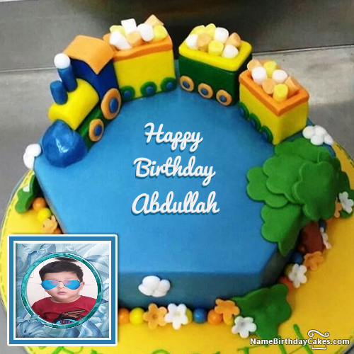 The Name Abdullah Is Generated On Happy Birthday Images Download Or Share With Your Friends Or Happy Birthday Cakes Popular Birthdays Happy Birthday Images