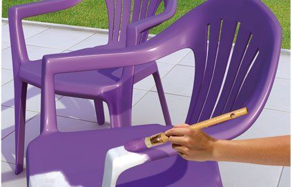 peinture plastique mobilier jardin