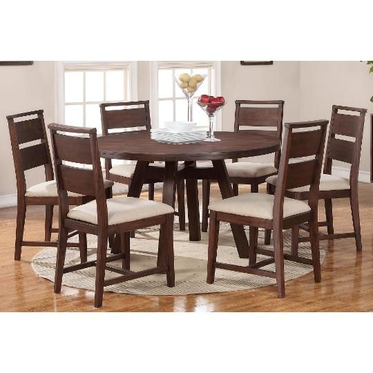 7P-48-61TABLE Walnut 54  Round Table